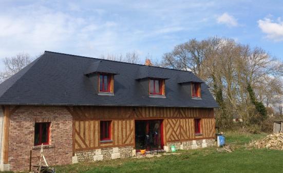 Maison en colombage à Flancourt Catelon (27)