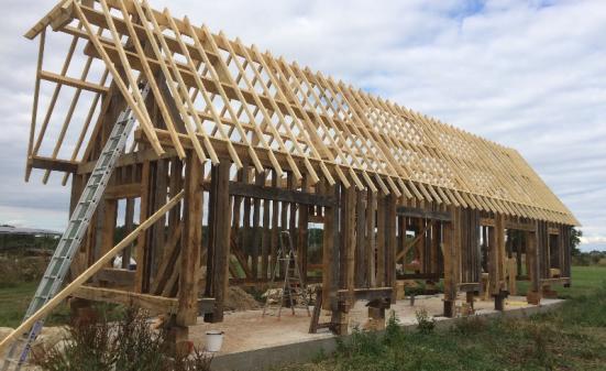 Construction d'une maison en colombage à Bourg Achard (27)
