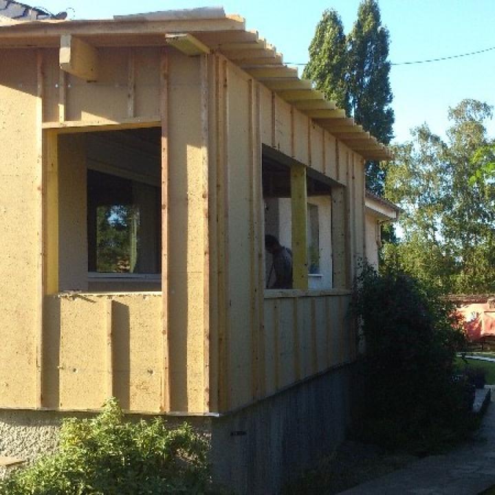 Agrandissement d'une maison d'habitation en Ossature Bois à Elbeuf (76)